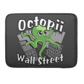 Octopii Wall Street - Occupy Wall St! Sleeve For MacBook Pro