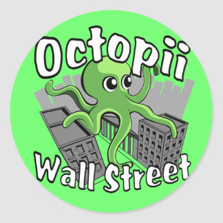 Octopii Wall Street - Occupy Wall St Stickers