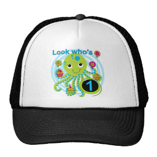 Octopus 1st Birthday T-shirts and Gifts Cap
