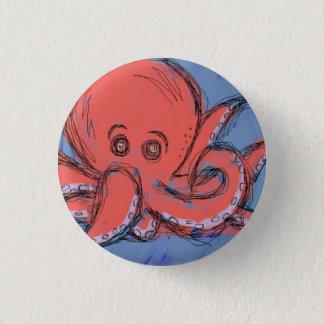 Octopus 3 Cm Round Badge