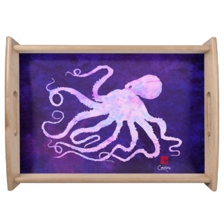 Octopus 6 Light Pink - Large Serving Tray
