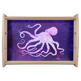 Octopus 6 Light Pink - Small Serving Tray