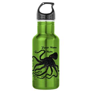 Octopus 6 On Apple Green - 18 oz. Water Bottle
