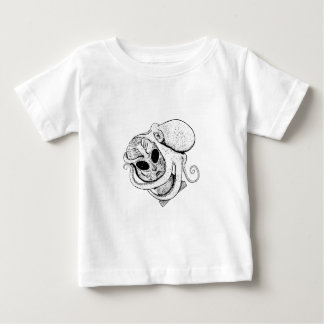 Octopus and Alien Baby T-Shirt