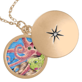 Octopus and Mermaid friends - Lovely necklace