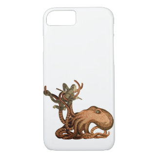 Octopus and Monkey Fighting Phone Case