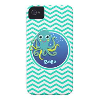 Octopus Aqua Green Chevron iPhone4 Case