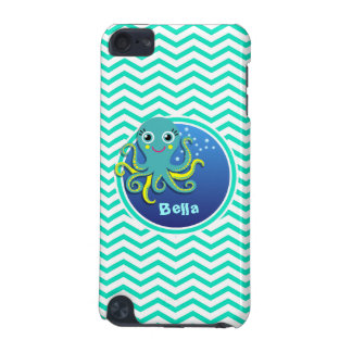 Octopus Aqua Green Chevron iPod Touch 5G Case