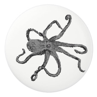 Octopus Beach Ceramic Knob