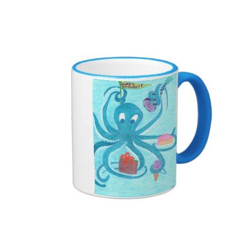 Octopus Birthday Mug