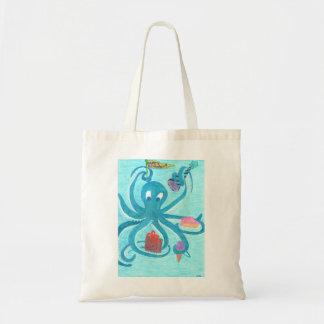 Octopus Birthday Tote Bag