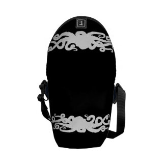 Octopus Black bag Messenger Bag
