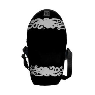 Octopus Black bag Messenger Bag