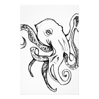 Octopus BLACK Stationery