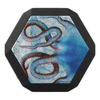 Octopus Blue Map Black Bluetooth Speaker