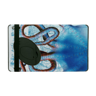 Octopus Blue Map iPad Folio Case