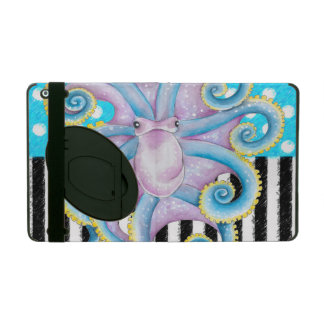 Octopus Blue Pattern iPad Folio Case