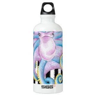 Octopus Blue Pattern Water Bottle