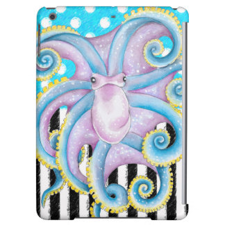 octopus blue polka dot