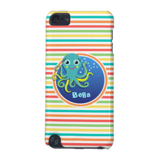 Octopus Bright Rainbow Stripes iPod Touch (5th Generation) Case