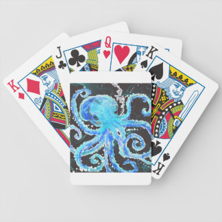 Octopus bubbles bicycle playing cards