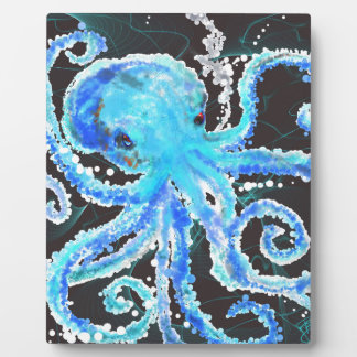 Octopus bubbles plaque