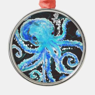 Octopus bubbles Silver-Colored round decoration