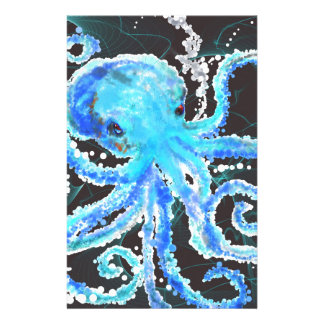 Octopus bubbles stationery