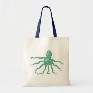 octopus budget tote bag