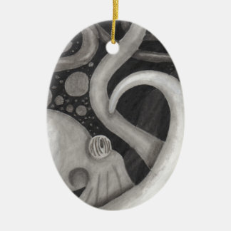Octopus Ceramic Oval Decoration