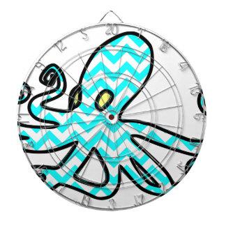 Octopus Chevron - light blue Dartboards