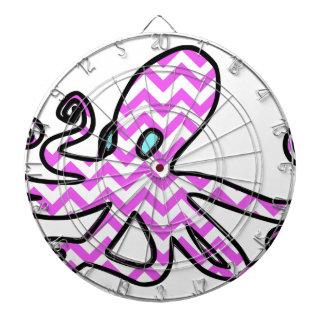 Octopus & chevron - pink dart boards
