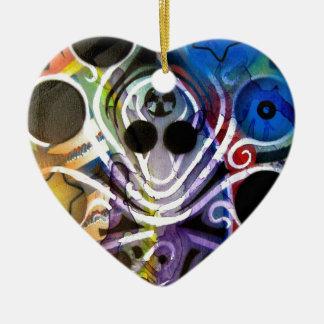 Octopus DJ V1 Ceramic Heart Decoration