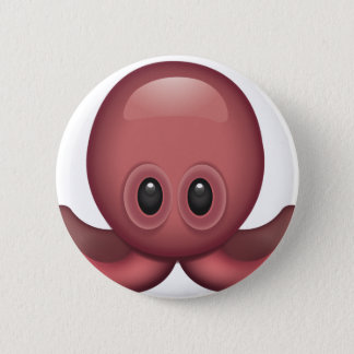 Octopus Emoji 6 Cm Round Badge