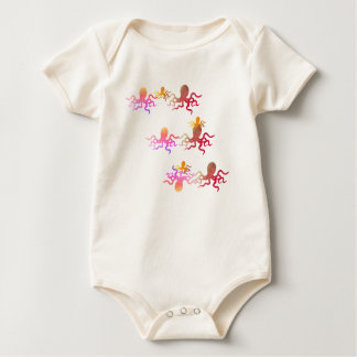 octopus family Organic Cotton Baby Bodysuit