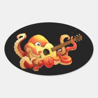 Octopus Guitar Sticker
