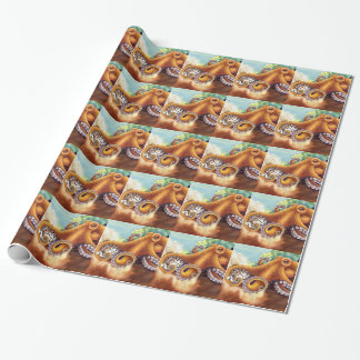 Octopus (He'e) Wrestling with Tiger Cowry Wrapping Paper
