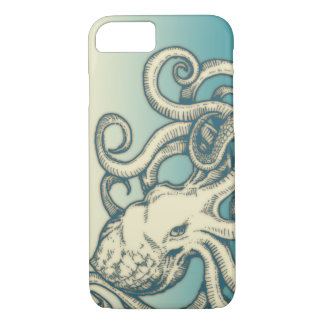 Octopus I phone case in ivory color.