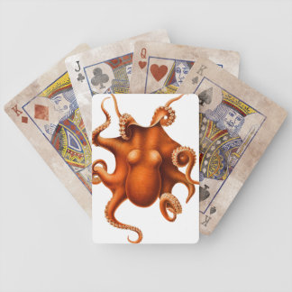 Octopus Illustration Bicycle Playing Cards