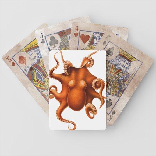 Octopus Illustration Poker Deck