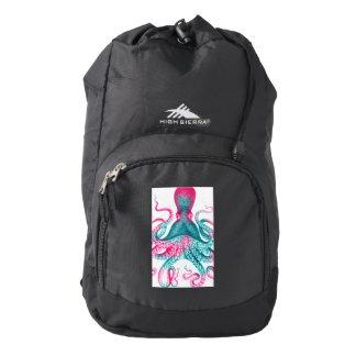 Octopus illustration - vintage - kraken backpack