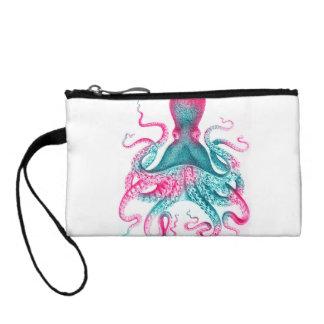 Octopus illustration - vintage - kraken coin purse