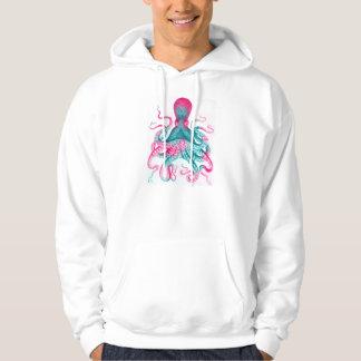 Octopus illustration - vintage - kraken hoodie