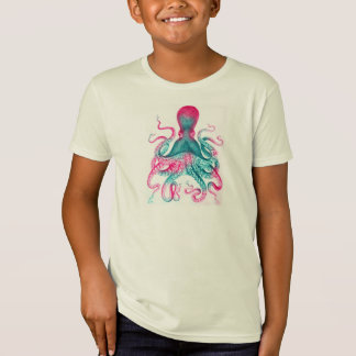 Octopus illustration - vintage - kraken T-Shirt