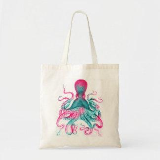 Octopus illustration - vintage - kraken tote bag