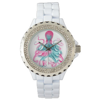 Octopus illustration - vintage - kraken watch