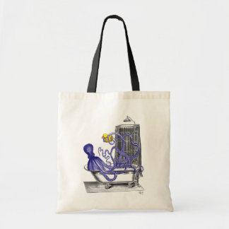 Octopus in Bath 2 Budget Tote Bag