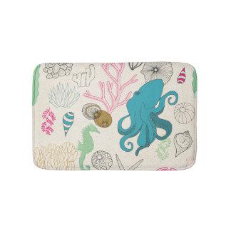 Octopus in the bathroom! Ocean themed bathroom Bath Mat