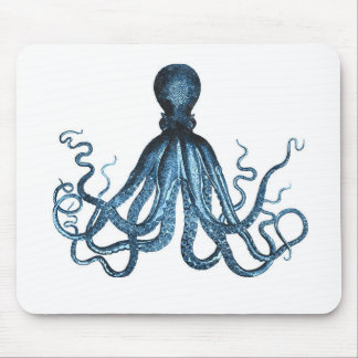 Octopus kraken nautical coastal ocean beach sea mouse pad