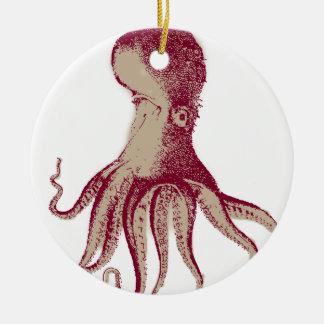 Octopus Kraken Squid Round Ceramic Decoration